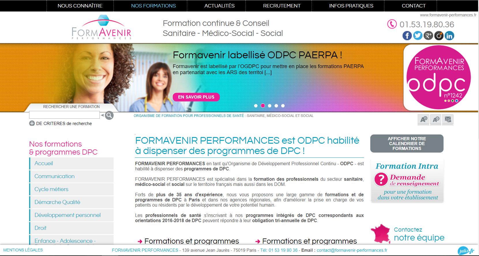 création de référencement naturelle pour site internet à Paris 75