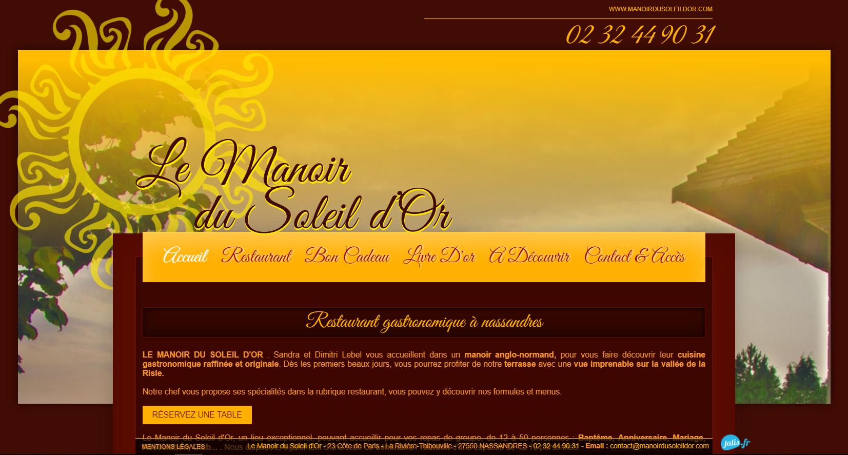 MANOIR DU SOLEIL D'OR restaurant