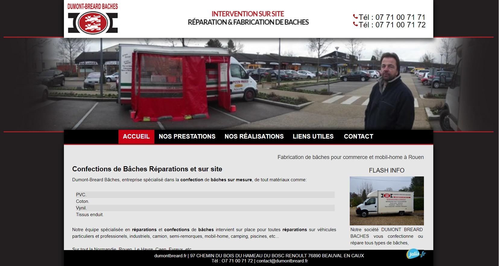 réparation et fabrication de bâches Rouen 76