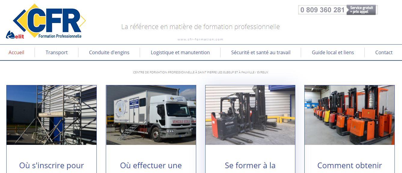 Site internet CFR Formation Seine Maritime