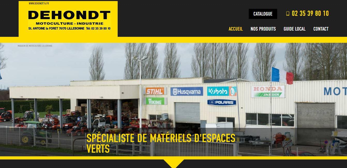 Agence web pour référencement de site motoculture secteur Yvetot