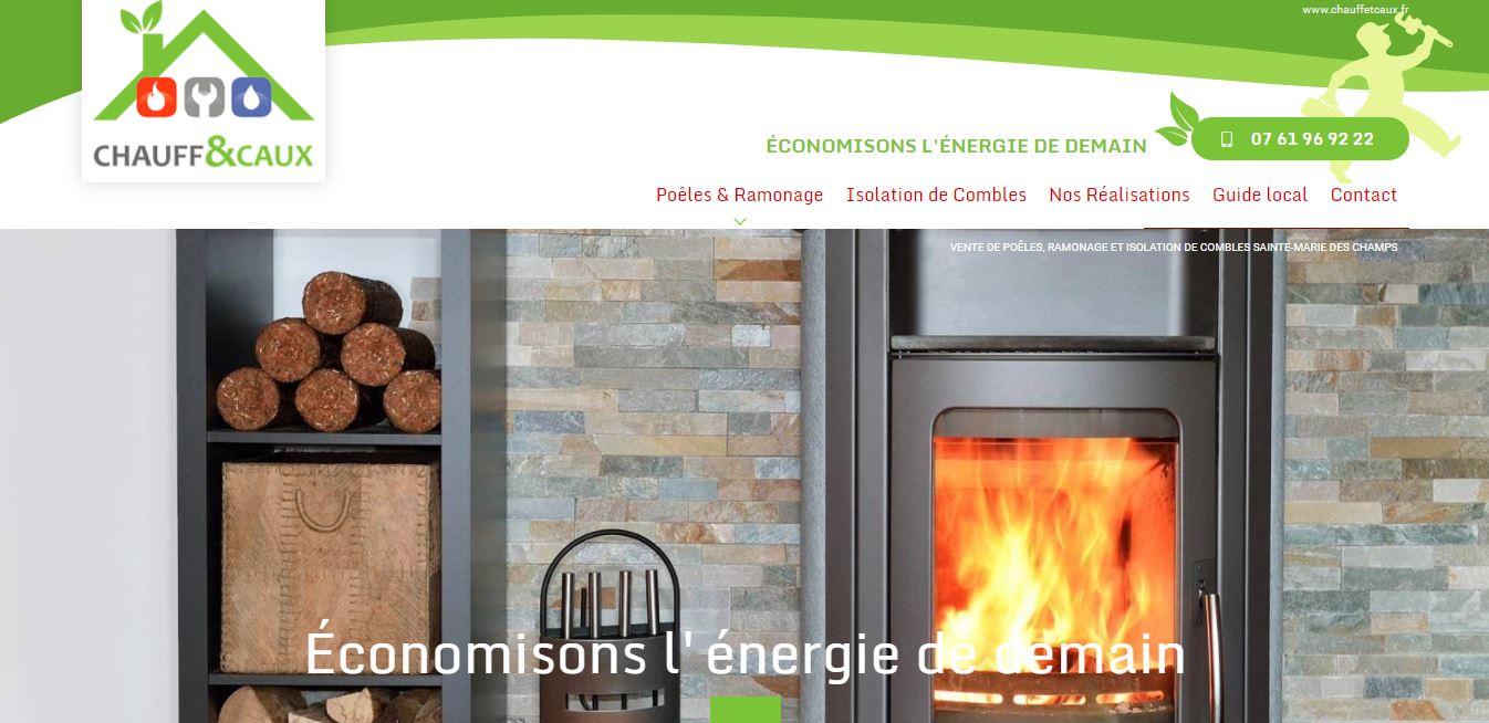 Où trouver une agence web en Normandie pour la conception et le référencement d'un site internet vente et pose de poêles - Chauff et Caux secteur Barentin