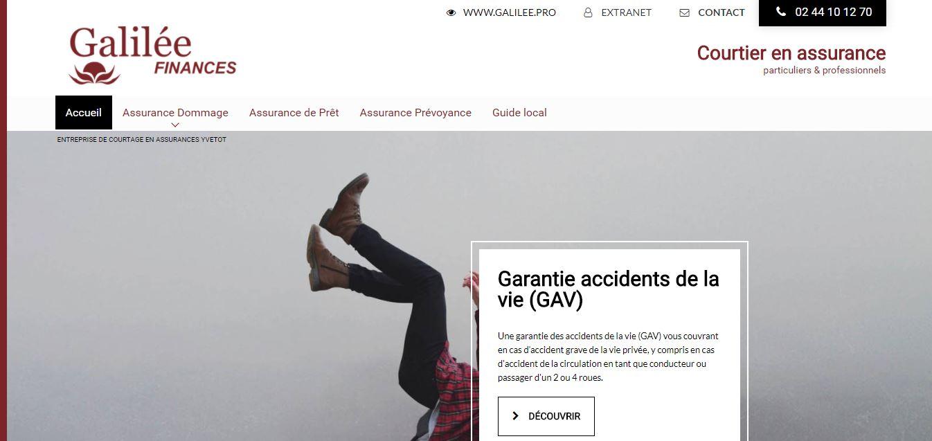 A qui faire appel pour que mon site internet soit plus visible sur Google dans le domaine de l'assurance - Galilée Finances secteur Barentin en Normandie