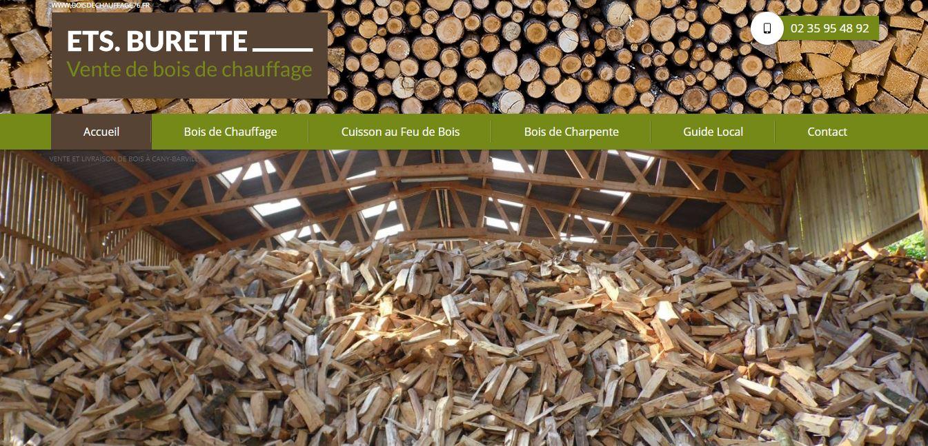 Agence web pour se positionner en premières pages Google pour la vente de bois en Normandie - Bois de Chauffage Stéphane Burette secteur Cany Barville