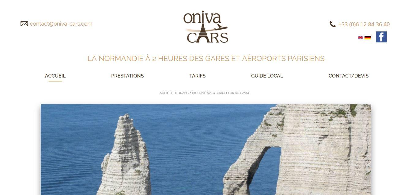 Trouver un site internet avec référencement avec Oniva cars Le Havre