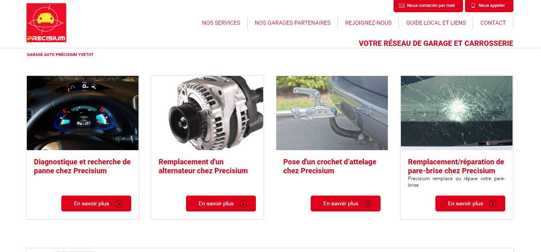 Trouver une agence web pour référencer en naturel un réseau de garage en Normandie - Réseau Précisium 76