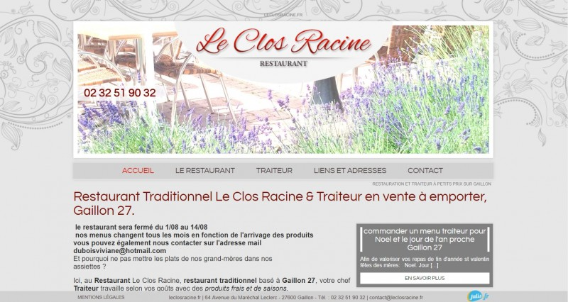création de site web pour les restaurant à Gaillon 27