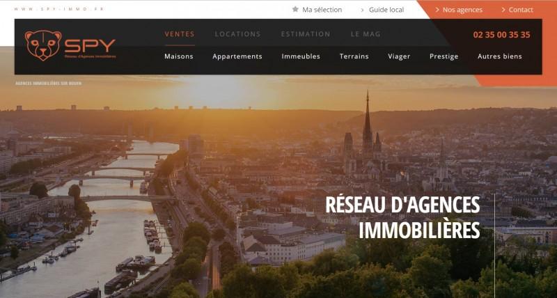 la solution optimum du multi site pour une agence immobiliere à Rouen