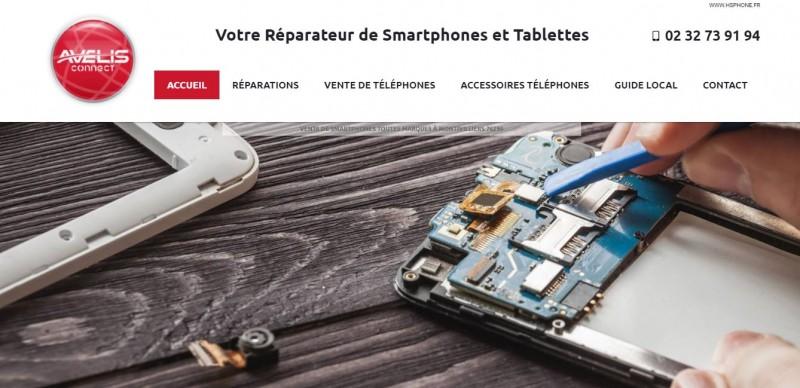 Agence web pour la création et le référencement dans le domaine des réparations téléphones / tablettes / PC en Normandie - Avelis Connect Fécamp / Le Havre