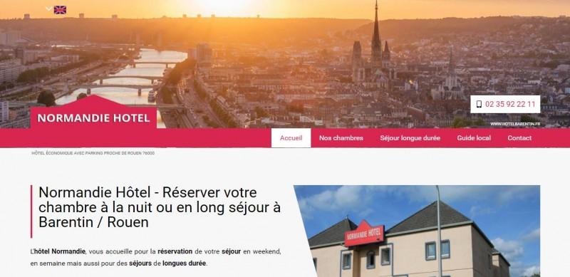 Réalisation de sites internet sur-mesure positionnés en premières pages Google pour hôtels en Normandie - Normandie Hôtel secteur Barentin