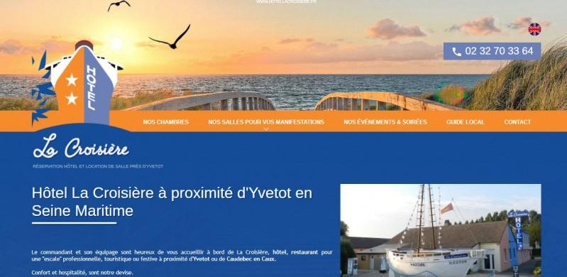 Agence web spécialisée en référencement SEO pour hôtel en Normandie - Hôtel La Croisière secteur Caudebec en Caux