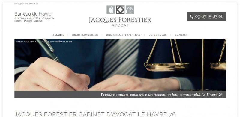 Création de site internet avec référencement pour avocat Le Havre