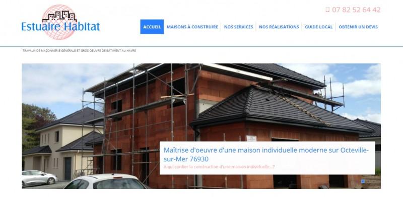 Création de site internet pour la construction de maison Le Havre