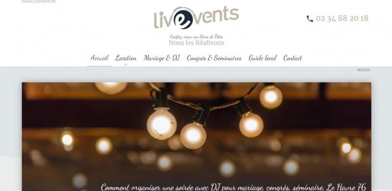 Réalisation de site référencé sur Google dans l'événementiel Le Havre