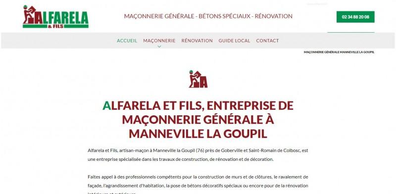 Réalisation de site internet pour Maçon Le Havre