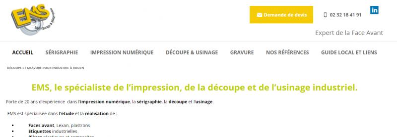référencer un site de sérigraphie en Normandie