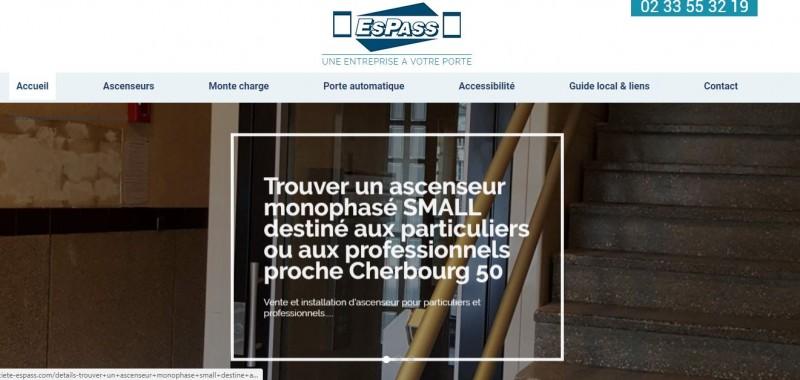 référencement site ascenseur Cherbourg