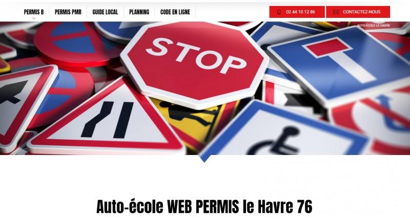 création de site internet pour auto-école proche Le Havre 76